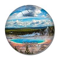 イエローストーングランドプリズマティックスプリングモンタナ米国冷蔵庫マグネットホワイトボードマグネットオフィスキッチンデコレーション