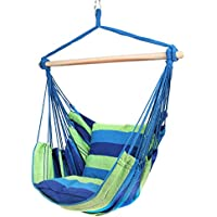 Blissun The Hangout Pod Kids' Hanging Tent, Hanging Hammock Swing Chair with Two Cushions