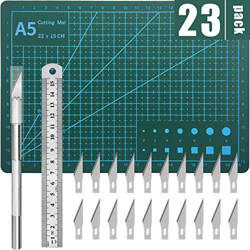 DIYSELF Exacto Knife Upgrade Cutting Mat Carving Craft Knife Hobby Knife Exacto Knife Kit
