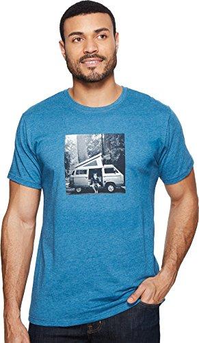 Mountain Hardwear A Man and His Van Short Sleeve T-Shirt Homme, Heather Phoenix Blue, XL
