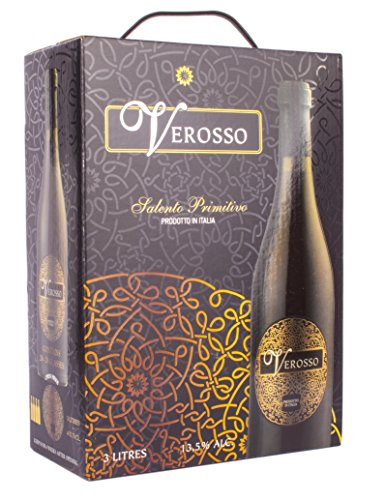 3L BAG in BOX Wein VEROSSO, Salento Primitivo 3,0l 13,5{db0ea6f4d630552bc615b10bdfd1f9c733ae57b55d31fc530c8b2674155ed688}