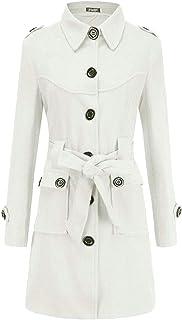 Women Single-Breasted Long Sleeve Autumn Winter Woolen Coat Overcoat