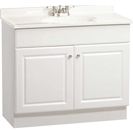 Rsi Home Products C14136a Richmond Bathroom Vanity Cabinet With Top Fully Assembled 2 Door White 36 X 31 X18 In 270124 Vanity Sinks Amazon Com