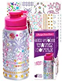 Purple Ladybug Decorate Your Own Water Bottle for Girls with Tons of Rhinestone Glitter Gem Stickers...