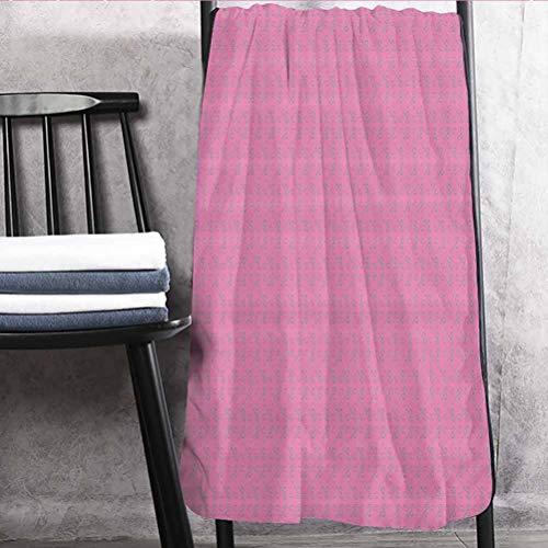 Floral Best Bath Towels Longer Lasting Towels Ornamental Abstract Detailed Flower Leaves Design on Pink Backdrop Nature Artwork Pink Grey 30' W x 60' L
