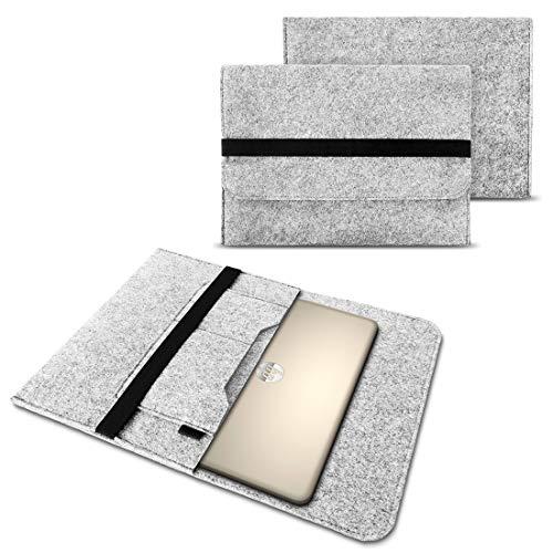 NAUC Filz Tasche kompatibel für HP Elitebook 1030 1040 G1 G2 G3 G4 13,3-14 Zoll Hülle Sleeve Schutzhülle Hülle Cover Notebook, Farben:Hell Grau