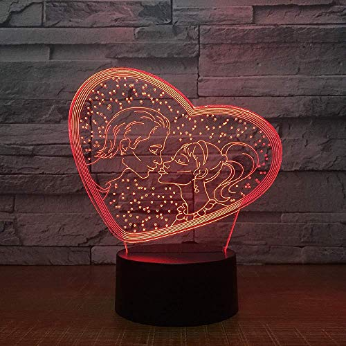 3D-schat-nachtlampje, 7 soorten decoratieve verlichting met kleurverandering, cadeau voor kinderen