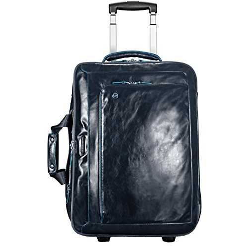 Piquadro Blue Square cabin trolley with doble notebook and iPad/iPadAir compartment - BV2960B2 (Dark Blue)