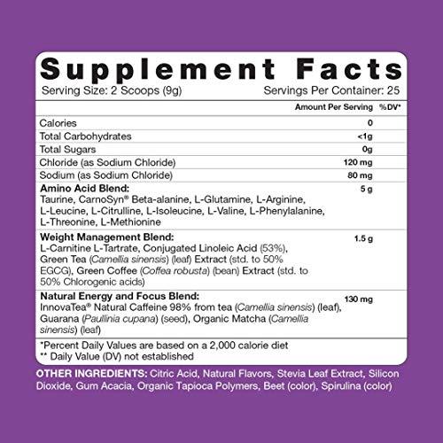 RSP Vegan AminoLean Natural Pre Workout Supplement