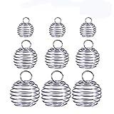 ULTNICE - Ciondolo sferico per perle, a spirale, stile gabbia, placcato, per la produzione fai-da-te di gioielli (Confezione da 30)