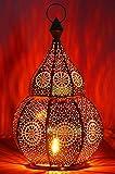 Lanterna portacandele orientale in metallo - Portacandele per giardino - Anaram Nero 32cm - trasmettere una buona atmosfera - passare un buon momento in giardino