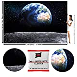 GREAT ART Fototapete Erde vom Mond 336 x 238 cm - Bildtapete 8 Teile Tapete inklusive Kleister