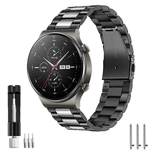 Aimtel - Cinturino di ricambio per Huawei Watch GT 2, 46 mm, GT 2 Pro/GT 2e/GT Active/Classic/Sport, cinturino di ricambio in acciaio inox da 22 mm, per Huawei Watch GT/GT2 46 mm/GT 2e/GT 2 Pro