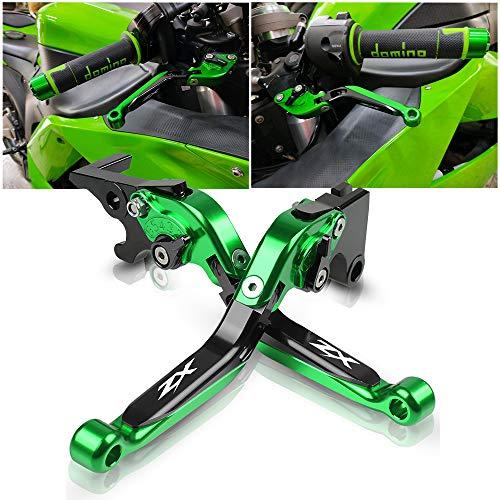 Motociclo Regolabile Frizione Del Leve Freno Per Kawasaki ZX6R/636 ZX-6R 2007-2018 ZX10R ZX-10R 2006-2015-Verde+Nero+Verde+Nero
