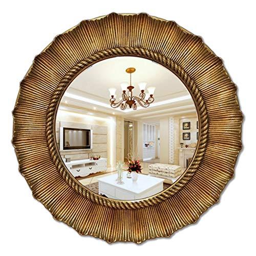 Miroir De Salle De Bain Miroir Mural Rond Élégant, Miroir De Salle De Bain Suspendu HD Miroir Avec Bordure Épaisse Miroir De Maquillage Miroir De Maquillage Miroir Transparent (Size : 65x65cm)