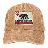 sweet grape Gorra de béisbol con diseño de oso California Love Star, clásica, ajustable, informal, deportiva, para hombre y mujer