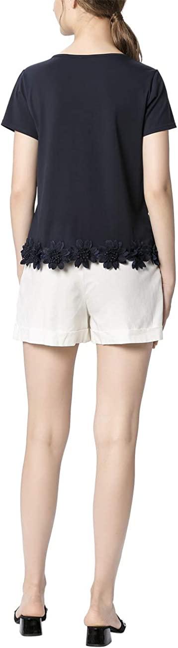 APART Fashion Shirt with Flowers T Donna