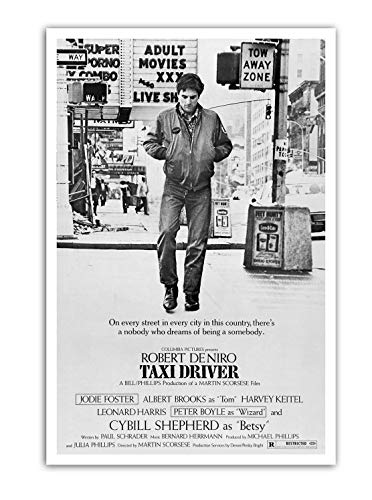 BaikalGallery Poster Cartel Taxi Driver -(F1177) Impresión en Papel Fotográfico Gramaje 250gr.- Laminado en Acabado Satinado (60x90cm)