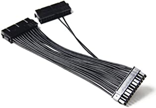 Leboo Dual PSU Power Supply 24Pin ATX Motherboard Mainboard Adapter 24PIN Connector Cable Mining Extension Cable