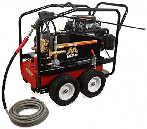 Mi-T-M CWC-5005-4MGH CWC Gasoline Series Cold Water Belt Drive, 688cc Honda OHV Electric Start Gasoline Engine, 5000 PSI Pressure Washer