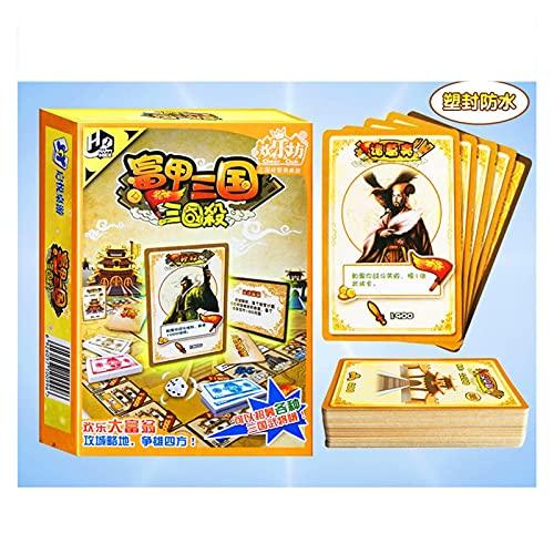 DEALBUHK Tarjeta de juego Tarjeta de juego Tres reinos Juego de mesa de negocios Tres reinos Matando Versión Puzzle Padre-Niño Board Board Board Juego Ajedrez y tarjetas Interesante juego de cartas de