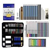 CASHWER Lápices Colores Profesionales de Dibujo 66 Piezas Estuche Set de Pintura Completo Incluye Bloc A5 Artistico Kit ideal para Artistas, Adultos, Niños