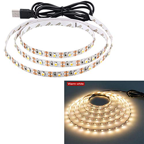 SMD2835 RGB LED Flexible Strip Lights Dimmable USB Waterproof LED Light Strip IP20 IP65 LED Ribbon White/Warm White LED Tape-Warm White_4m_IP65 Waterproof