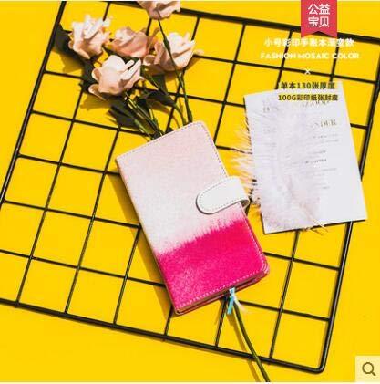 Rocco Best Quality notebook, met lattice grid notitieblok, draagbaar leer, A5 polijstpads, painting pocket, boeken, fashion reisplanner, memo pad, 1 pc Kleurrijke grid 4