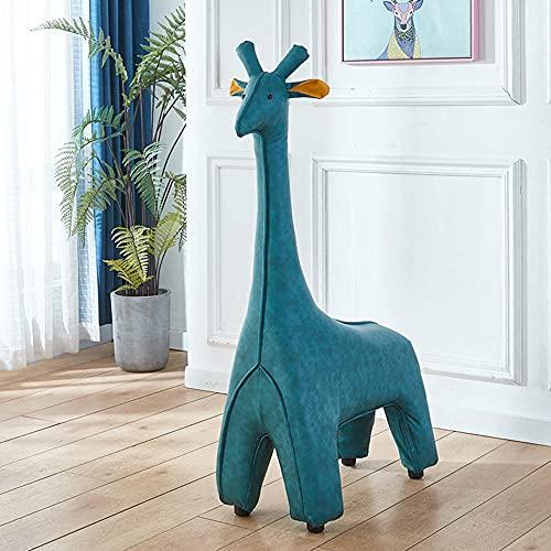 Susier Giraffe Ottomane, Tier Fußstütze Hocker, Giraffe Dekoration, Fotografie Requisiten, Kreative Dekoration Stuhl-Dunkelblau