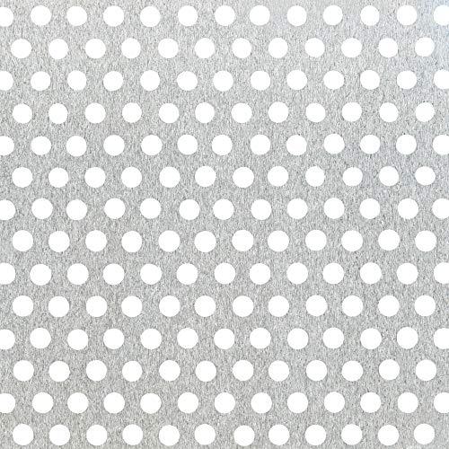 GAH-ALBERTS 468200 - Chapa perforada - agujero redondo, aluminio, blanco, 200 X 1000 X 0.8 Mm