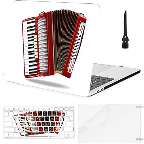 Carcasa rígida de plástico con Cubierta de Teclado para Mac Cubierta de computadora Beautiful Melody Accordion Compatible con Macbook Air 11'13' Pro 13'15' 16'2008-2020 Ver