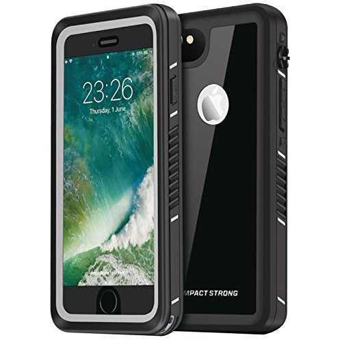 IMPACTSTRONG iPhone 6/6s Plus Case, Waterproof Case [Fingerprint ID Compatible] Slim Full Body Protection for Apple iPhone 6 Plus & 6s Plus (5.5') - FS Jet Black