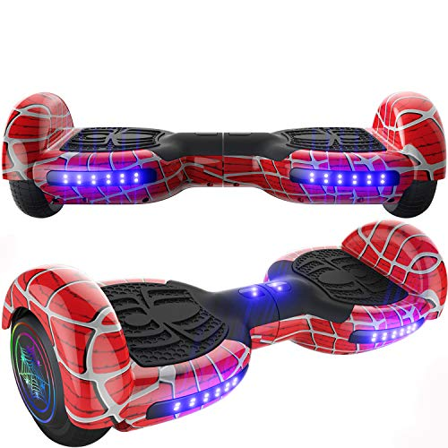 Emaxusa Hoverboard Self Balancing Scooter 6.5' Two-Wheel Hoverboards with Bluetooth Speaker and LED Lights Electric Scooter for Kids and Adult, UL Safety Certified (Red)