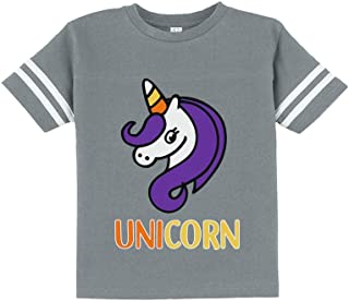 Cute Halloween Candy Corn Unicorn Toddler Jersey T-Shirt