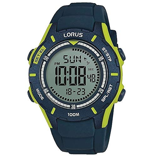 Lorus digital man reloj para Hombre Digital de Cuarzo con brazalete de Silicona R2365MX9