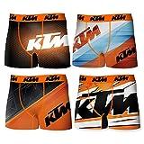 KTM T376-1-L Set 4pcs Boxers KTM-92% poliéster 8% Elastano, Pack De 04 T376/1, L para Hombre
