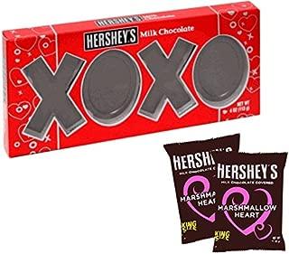 Hershey's Valentine's Day Pack XOXO Milk Chocolate & 2 pack Hershey's King Sized Marshmallow Heart
