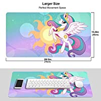 My Little Pony Unicorn マウスパッド 光学マウス対応 パソコン 周辺機器 超大型 防水 洗える 滑り止め 高級感 耐久性が良いOne Size