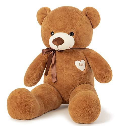 YunNasi Osito de Peluche Gigante Animal de Felpa Grande 80cm/31.5 Inches Teddy Juguetes de Peluche con Cinta
