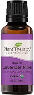Plant Therapy USDA Certified Organic Lavender Fine Essential Oil. 100% Pure, Undiluted, Therapeutic Grade. 30 mL (1 Ounce).
