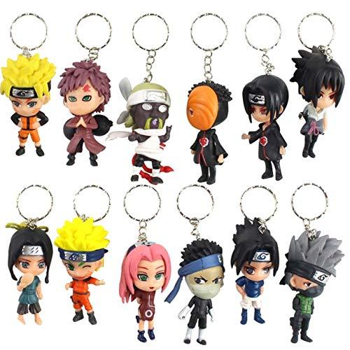 6-8cm 6pcs / Set Anime Naruto Figura Llaveros de Juguete...