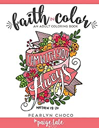 faith in color inspirational coloring book for adults