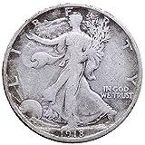 1918 S Walking Liberty Half Dollar 50c...