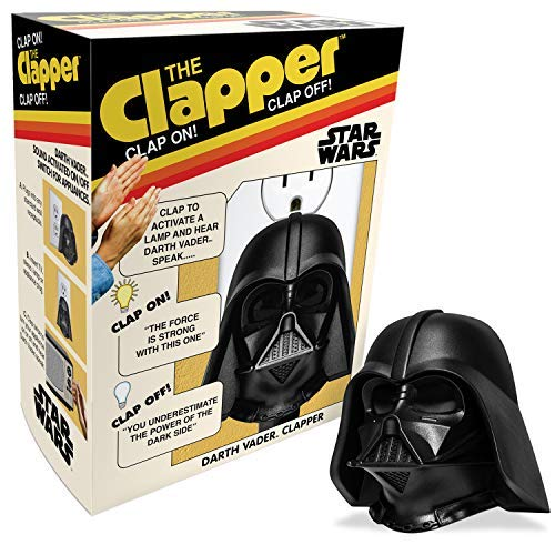 Star Wars Talking Darth Vader Clapper - Retro Box, Wireless Sound Activated On/Off Light Switch, Clap Detection, Perfect For Kitchen/Bedroom/TV/Appliances, 120 V Wall Plug, Smart Home