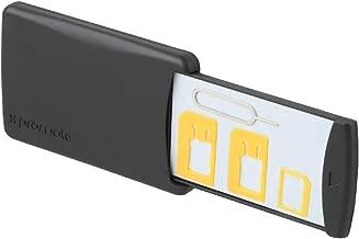 بروميت 4-In-1 حافظة للبطاقات ، مجموعة تحويل للبطاقات بحجم صغير جدًا مع تخزين بطاقة الذاكرة، دبوس صلب ووسادة قبضة 3M من أجل Nano Sim، مايكرو سيم، Standard Sim، بطاقة الذاكرة، Cellukit