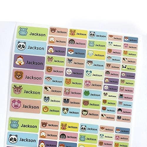 WOCAO Bambini Carino Cartoon Animale Ferro Su Adesivi Personalizzato Nome Etichette Personalizzate Impermeabile Tag Per Bambini Vestiti Uniformi Scuola