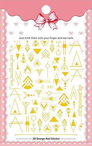 2020 DIY 3D Nail Art Aufkleber Kleber Aufkleber Aufkleber Werkzeug Schwarz Weiß Gold geometrische Bild Nail Art Tattoo Dekoration Z0317