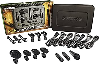 Shure PG ALTA 7-Piece Drum Microphone Kit for Performing and Recording Drummers includes Mics Mounts and Cables with options for Kick Drums Snare Rack/Floor Toms Congas and Cymbals  PGADRUMKIT7