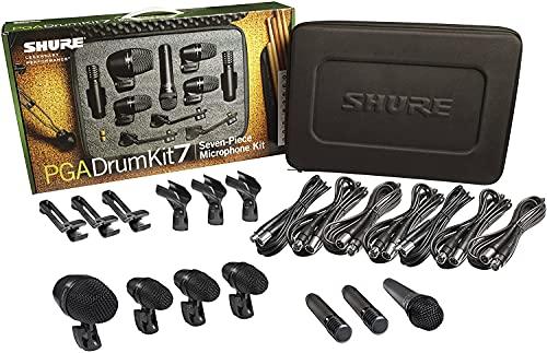 Shure Instrument Condenser Microphone, 7-Piece (PGADRUMKIT7)