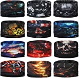 Generic Unisex Headwear Headband Head Wrap UV Resistence Sports Bandana Magic Scarf Face Mask (Assorted Color and Design) Pack of 10
